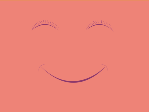 Julia Ford Pink Smiley Face